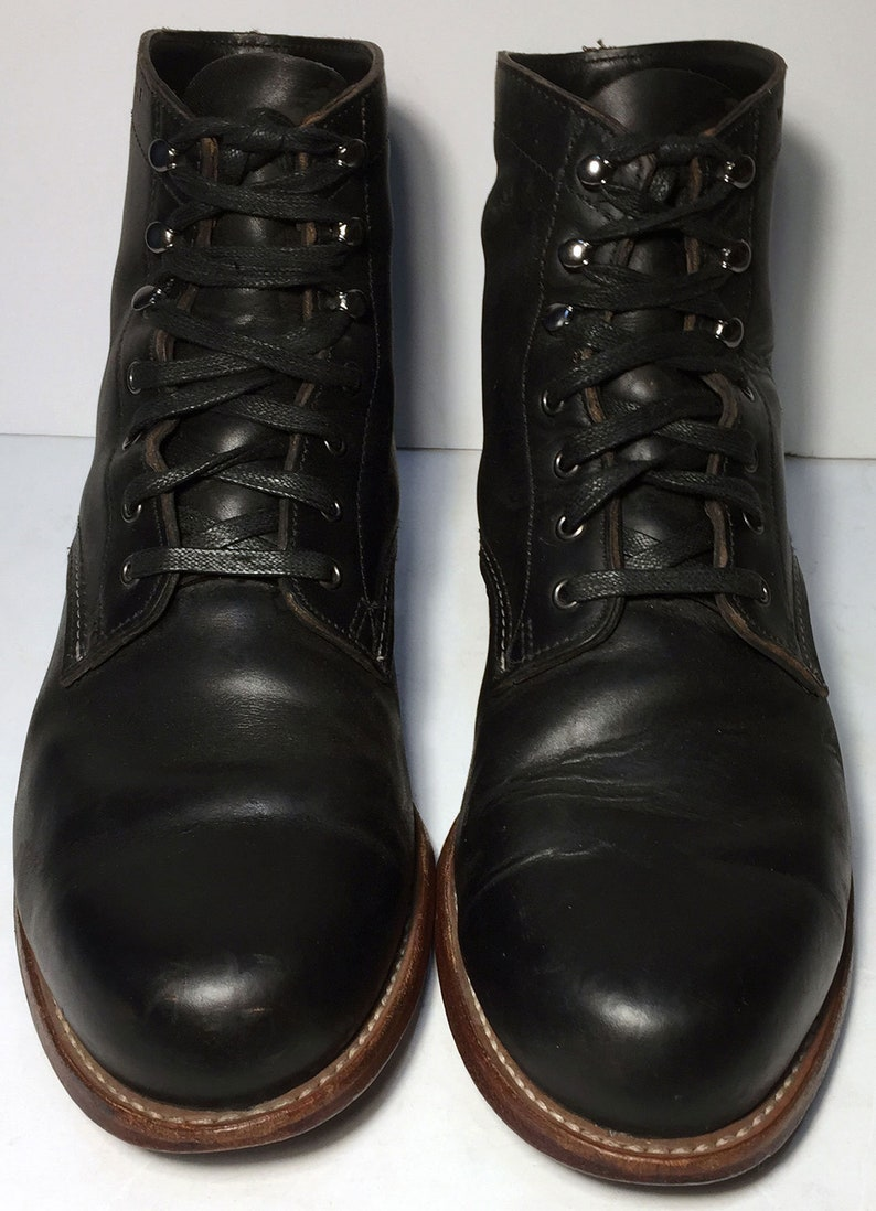 d4ee6e7a67c 12 US || 45 Euro || 11 UK || Wolverine 1000 Mile Chukka Black Leather  Military Combat Boot Men Size 12 EEE Extra Wide || Work Desert Lace Up
