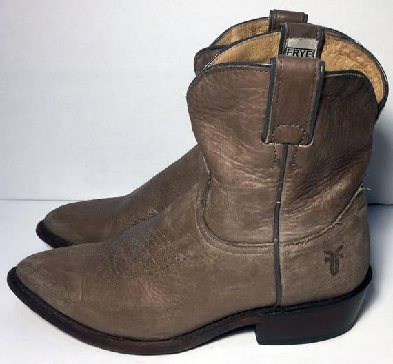 Frye 77815 Billy korte kaki Leather Western cowboy cowgirl laarzen vrouwen maat 8,5