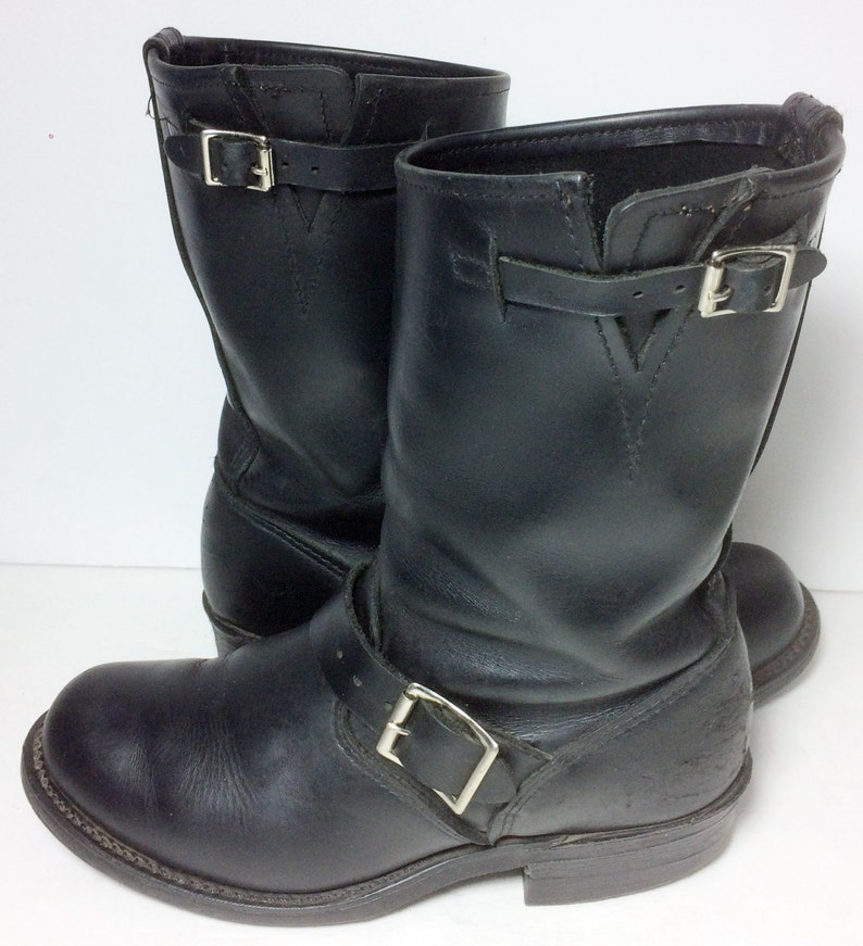 8170ed3c99788 Frye 77400 Engineer Black Leather Motorcycle Riding Boots