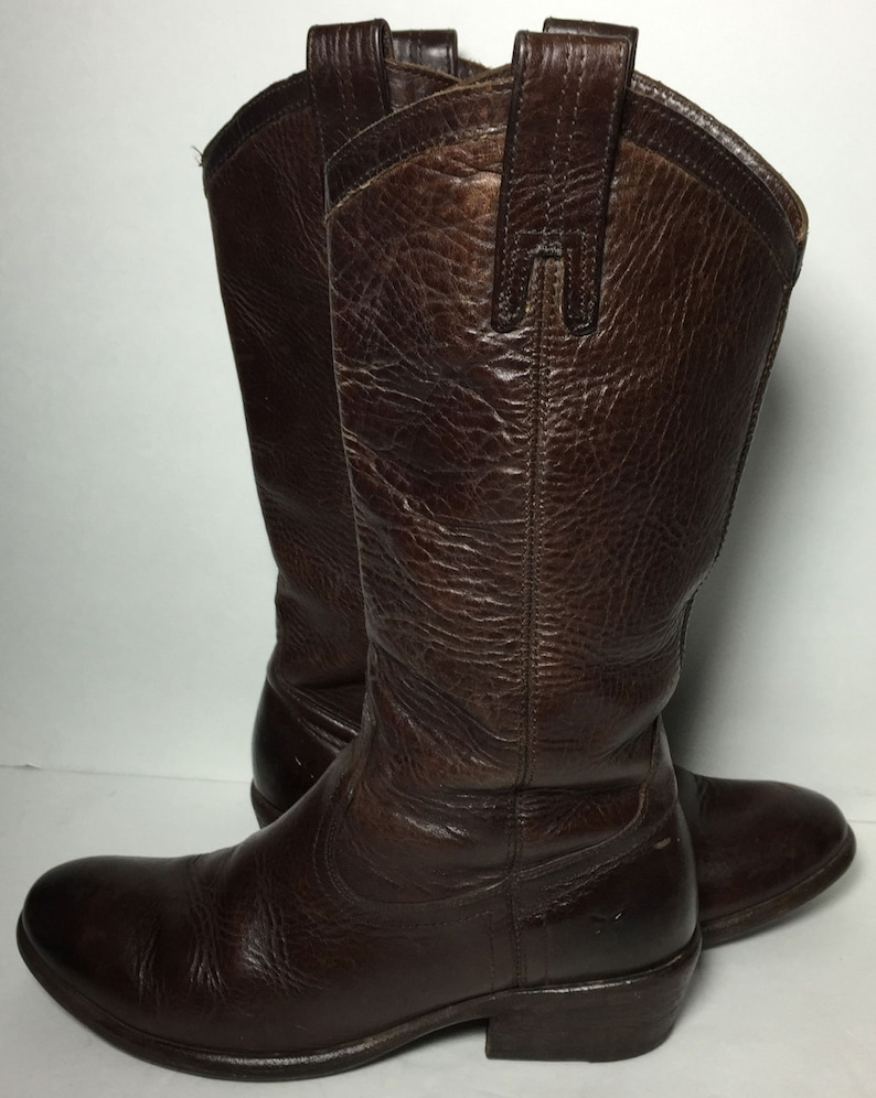 54862ca9f9e Frye 77679 Carson Pull On Brown Leather Cowboy Western Cowgirl Boots  Women's Size 7.5