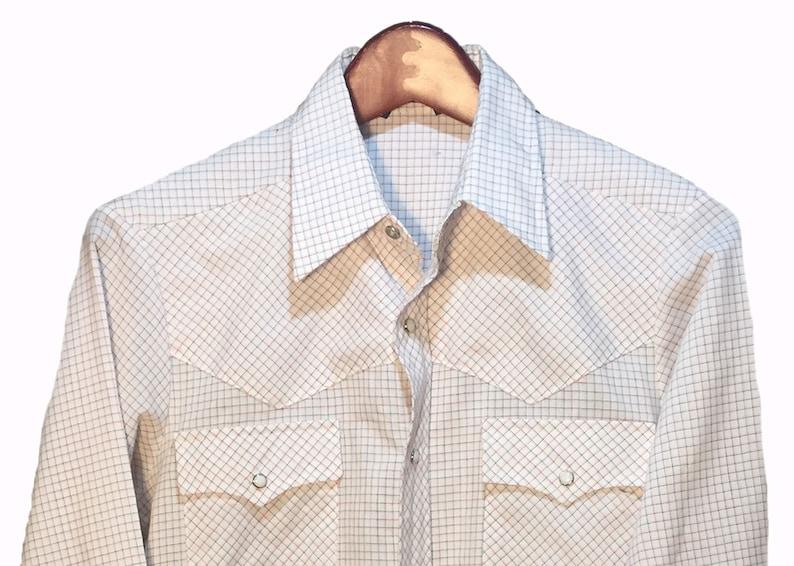 Essley Vintage Plaid Multicolor White Red Black Button Down Western Cowboy Shirt Men/'s Size S