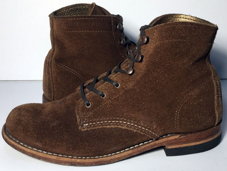 0eecba240ee6f8 7.5 us 38 euro 6.5 uk Wolverine 1000 Mile Brown Suede