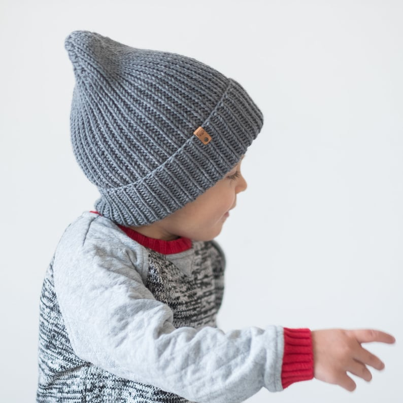 5cee315dcfb5 CUSTOM Color Kids beanie winter knit hat toddler boy beanie