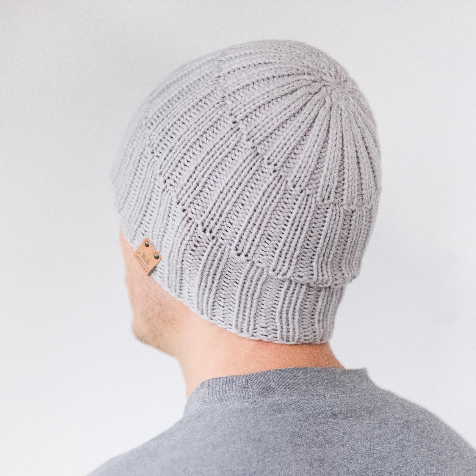 596c50bdca5246 Mens slouchy beanie Mens Knit Beanie Winter Wool Hat CUSTOM | Etsy