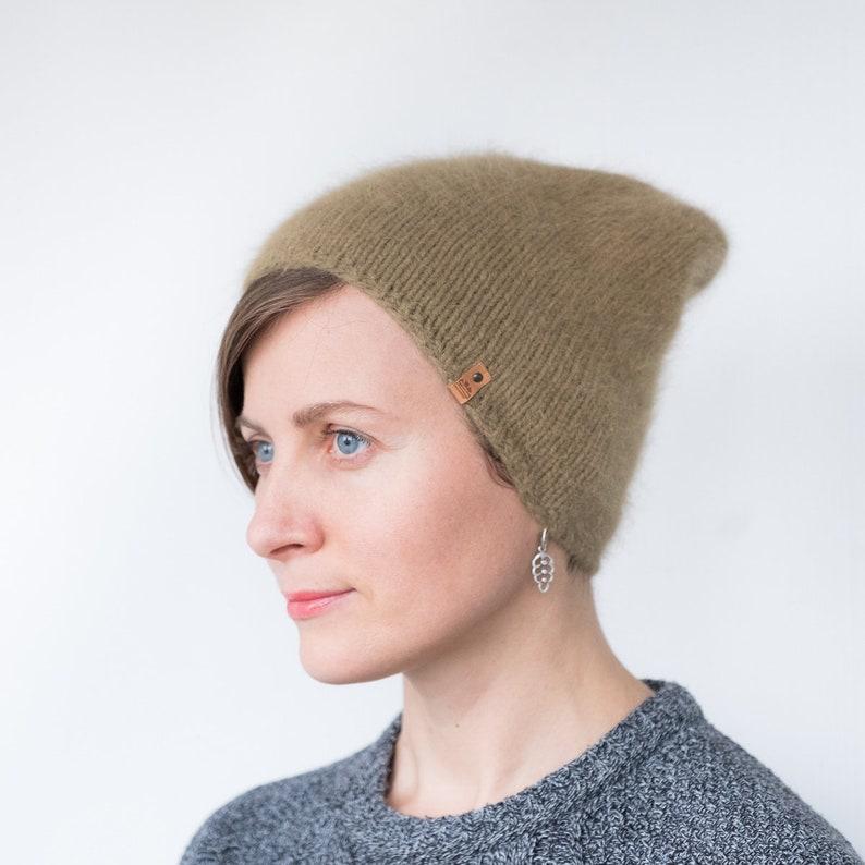 1c19fb64a71 Angora beanie Angora hat Angora knit hat Winter slouchy