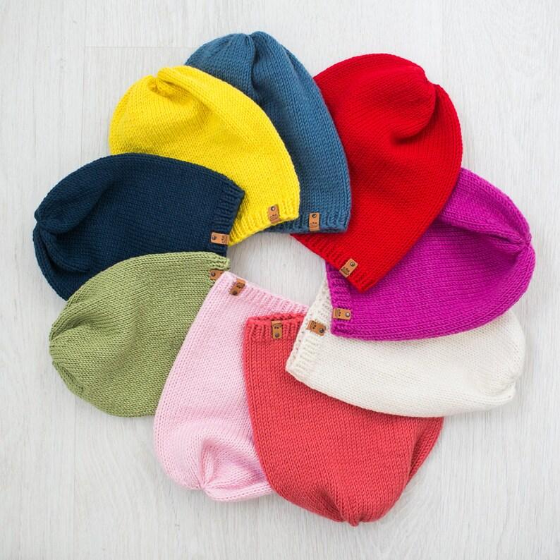 966989af051 KIDS Custom Color Slouchy Beanie Merino Wool Hats Toddler