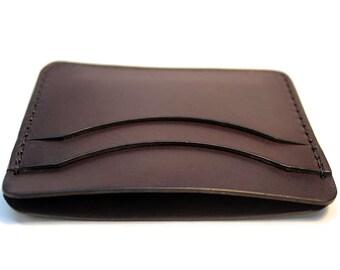 Credit card holder etsy leather card case leather credit card holder slim wallet personalized for him mens front pocket wallet dark brown card holder reheart Images