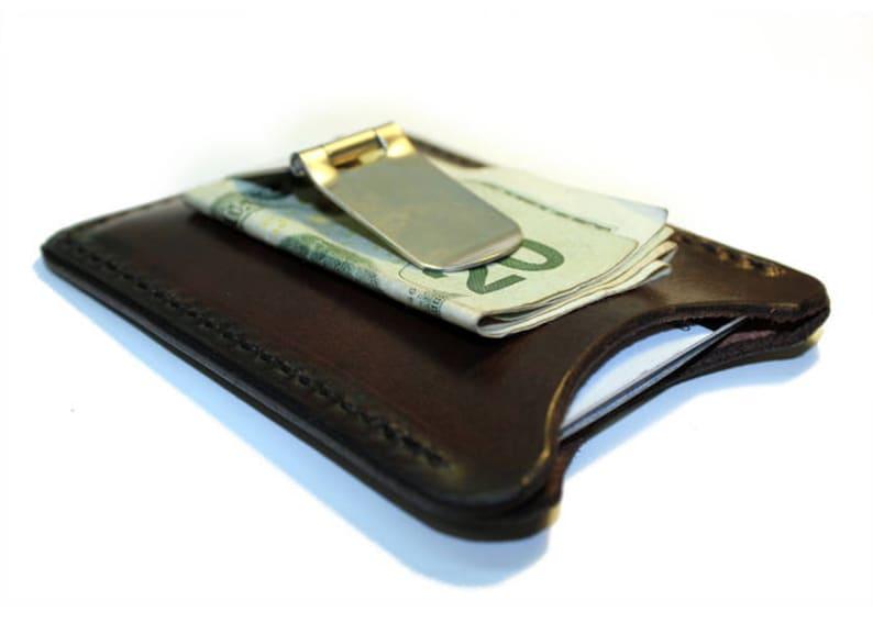 de3aad7280893 Leather money clip wallet personalized money clip flip clip