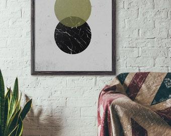 Printable Circle Art, Printable Wall Art, Printable Geometric Poster, 5x7 8x10 11x14 16x20, Circle Wall Art, Digital Download Art, D034