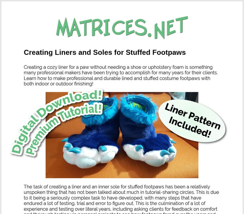 Premium Tutorial: Creating Liners and Soles for Stuffed image 0