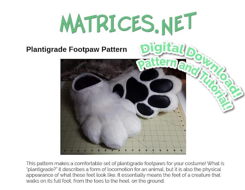Pattern and Tutorial: Fursuit Plantigrade Footpaws image 0