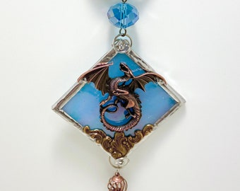 Stained Glass Dragon Sun Catchers - Ornaments - Window Hangings - Fantasy Wall Art. Sold individually