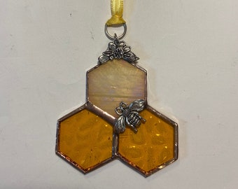 Stained Glass Bumble Bee Sun Catchers - Ornaments - Window Hangings - Wall Art. Sold individually