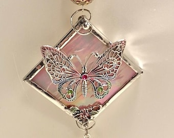 Stained Glass Butterfly Sun Catchers - Ornaments - Window Hangings - Wall Art. Mother's Day Gift