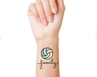 Volleyball Tattoo Etsy