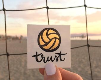 "Team Pack of 14 Temporary Tattoos / ""Trust"" Volleyball / Team Tattoos"