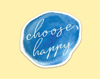 Choose Happy Magnet, Inspirational Magnet, Inspirational Quote Magnet, Fridge Magnet, Locker Magnet, Gift for Teen, Gift for Her