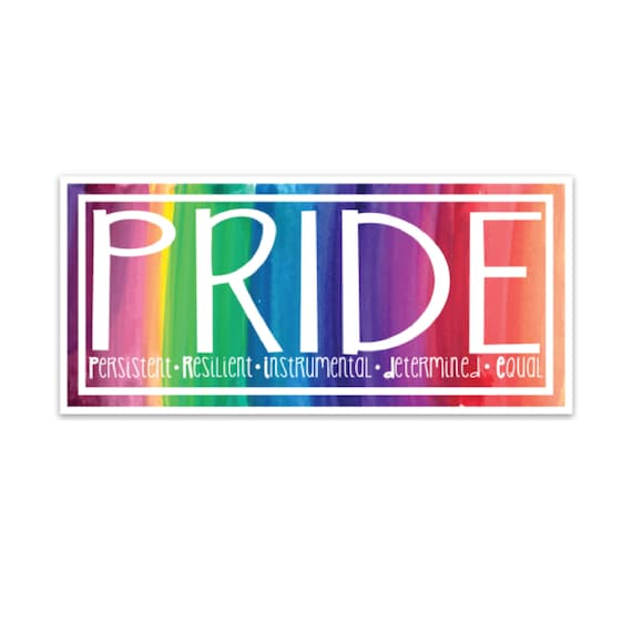 Wholesale Lot of 6 Rainbow Gay Decal Bumper Sticker