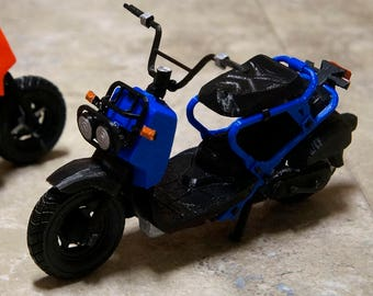 Customizable 3D Printed 1/10 Scale Ruckus Pit Bike Scooter