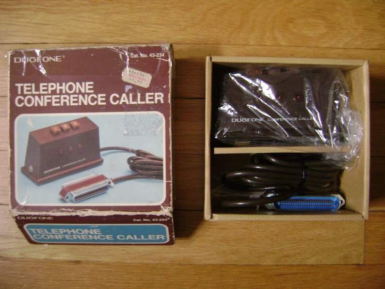 1982 Radio Shack Duofone 43-234 Conference Caller New in Box Untested Prop?