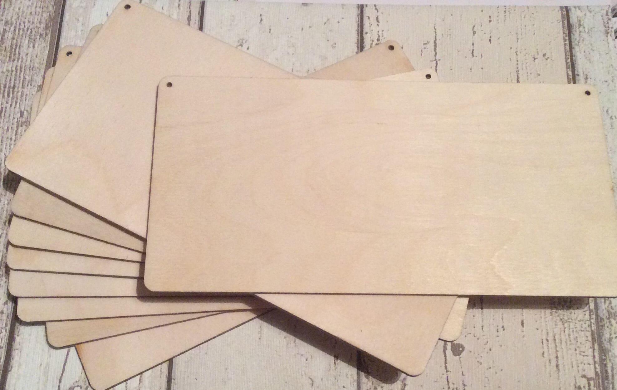 Packung mit 10 Laser schneiden Holz blanke Plaketten in drei | Etsy