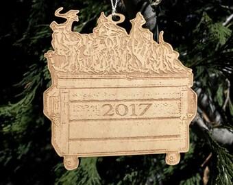 2017 Dumpster Fire Ornament