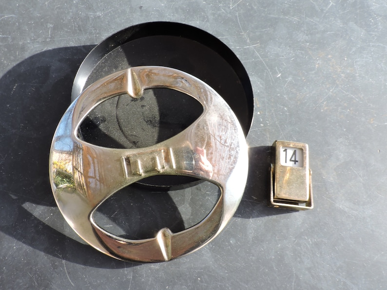 Vintage English Retro Ashtray With Date Numbers 1950s Chrome Ashtray