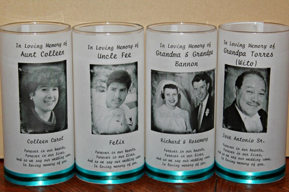 Memorial Candle Funeral Candle Wedding Candle Celebration ...