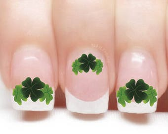 Shamrock St PATRICK'S DAY Nail Decal  Lucky Clover Nail Art