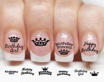 Birthday Nail Art Etsy