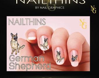 Puppy Nail Decal Dog Nail Art Pup Nail Designs Nailthins Etsy