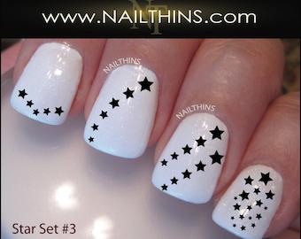 Star Nail Decal Stars 1 Nail Designs Nailthins Etsy