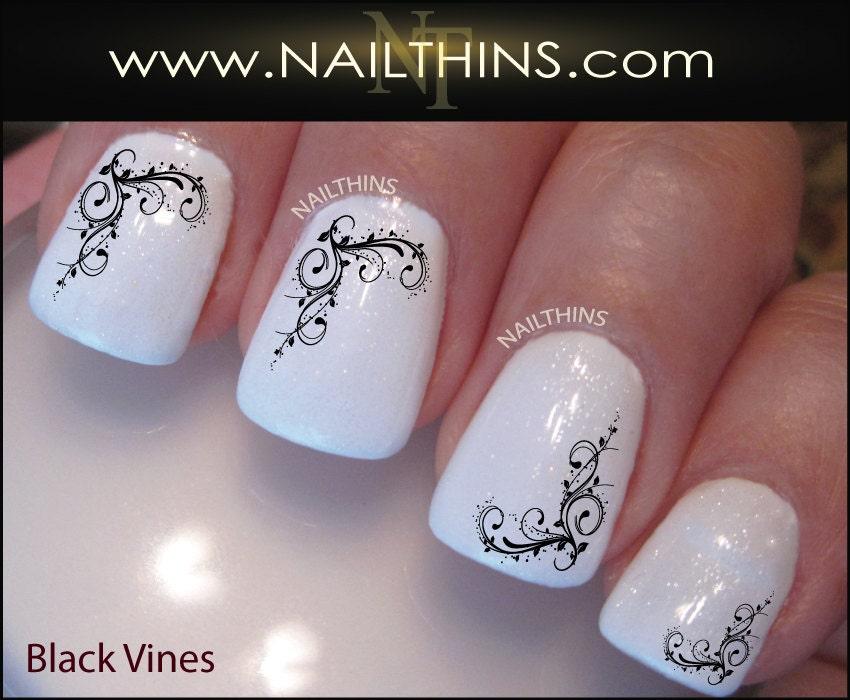 Vines Nail Decal Ivy Nail Art flower nail Design by NAILTHINS