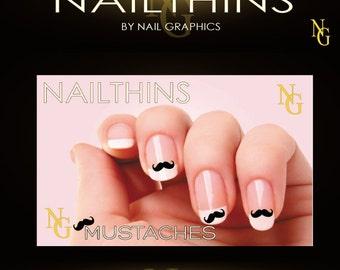 MUSTACHE  nail decal NAILTHINS  Nail Art  Nail Designs