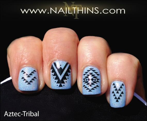 Tribal Nail Decal Nailthins Nail Art Design Etsy