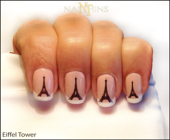Eiffel Tower Nail Decal Paris Nail Art Eiffel Nail Wrap Design Etsy