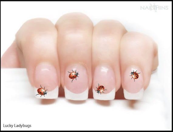 image 0 - Ladybug Nail Decal Lady Bird Nail Wrap Lady Bugs Nail Art By Etsy