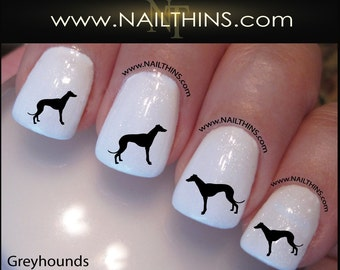 Greyhound Nail Decal Dog Nails by NAILTHINS