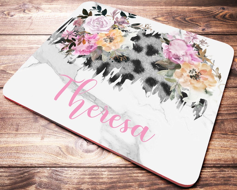 Leopard Print Office Decor Personalized Mouse Pad Office Accessories Leopard Print Mouse Pad Desk Decor Leopard Print Office Supplies