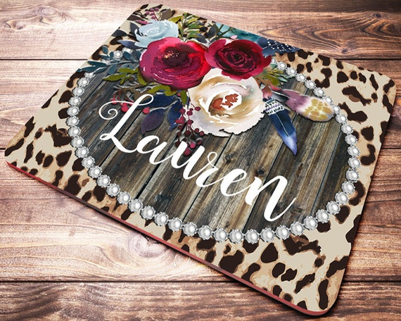 Office Desk Accessories Leopard Print Mouse Pad Personalized Mouse Pad Desk Accessories Women Personalized Gift Office Decor