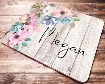 Personalized Gift For Women, Name Mouse Pad, Office Desk Accessories, Personalized Office Supplies, Coworker Gift, Personalized Mouse Pad
