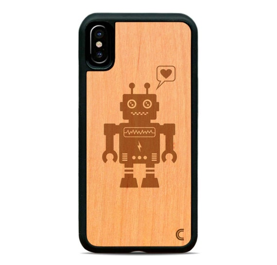 WOODEN ROBOT iphone case
