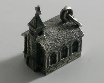 Hayward Sterling 3D Church Cathedral Charm #0266