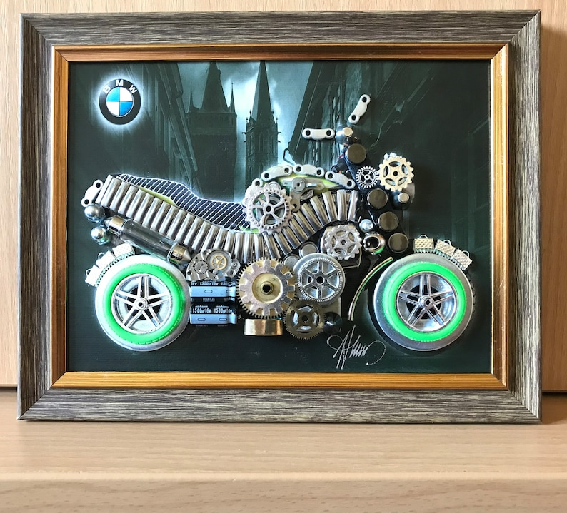 Steampunk Famous Motorcycle Bmw Motorcycle Code M 260 Etsy