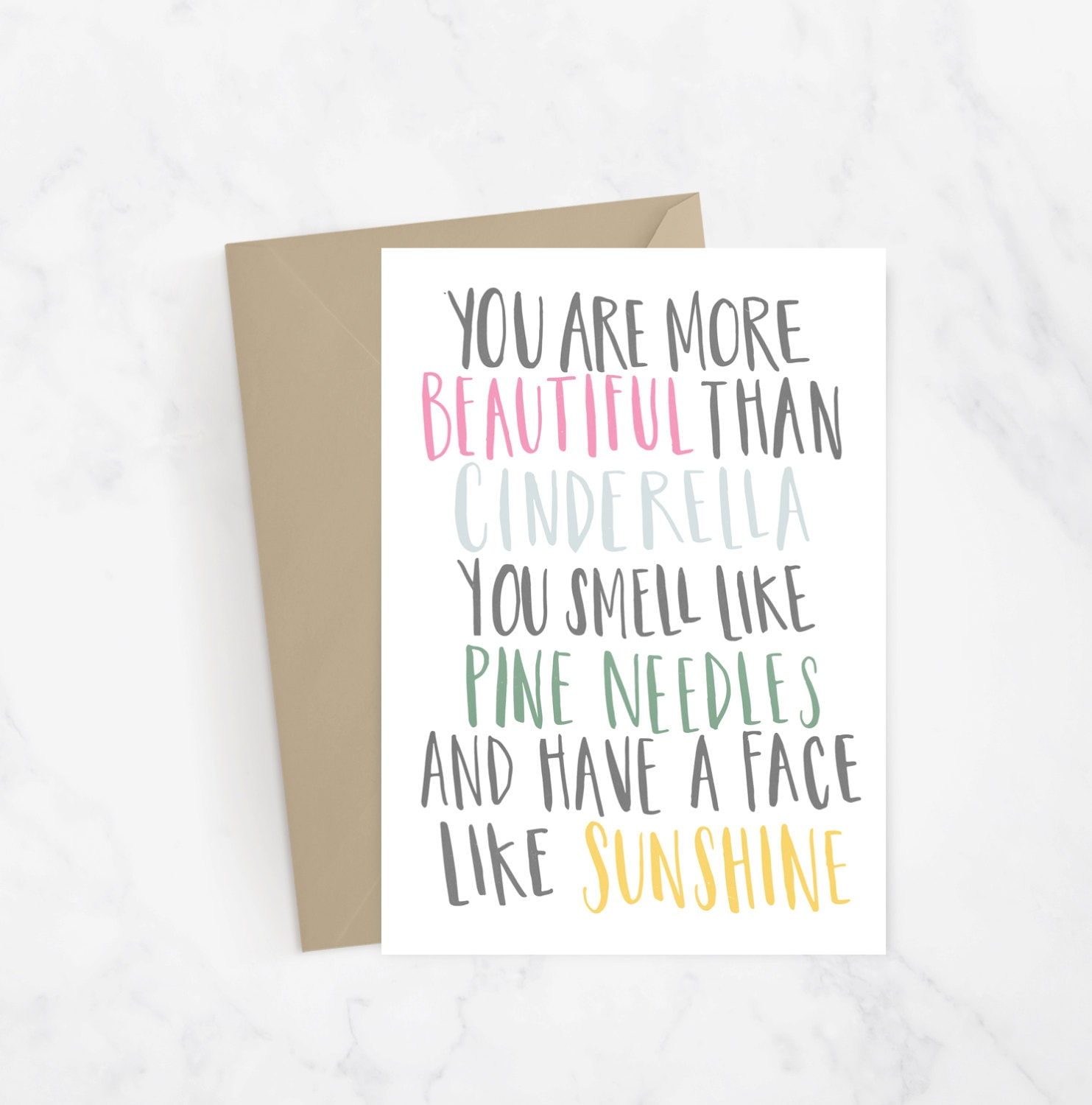 Bridesmaid Movie Quote Hand Lettered Greeting Card Gift Idea Etsy