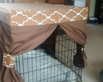 Crate Drapery Set/ pet crate cover- contact with dimensions for your quote