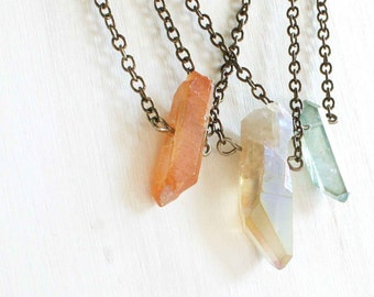 Custom Raw Crystal Necklace Birthstone Jewelry Under 25 for Teens Raw Quartz Jewelry For Her Inspirational Jewelry Budget Gifts for Friends