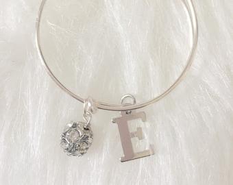 Initial Charm Bracelet  Kids Bracelet  Personalized Jewelry