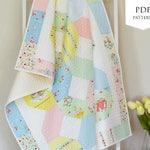 Bunnies & Cream Crib / Cot Quilt PDF Pattern