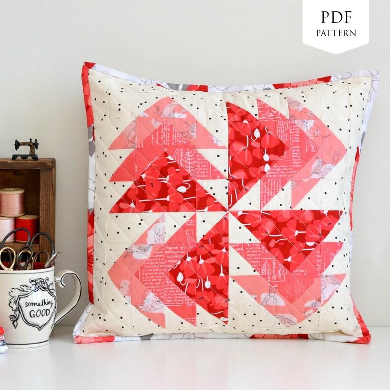 Desert Windmills Mini Quilt / Cushion PDF Pattern image 0